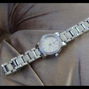 Burberry silver diamond Watch